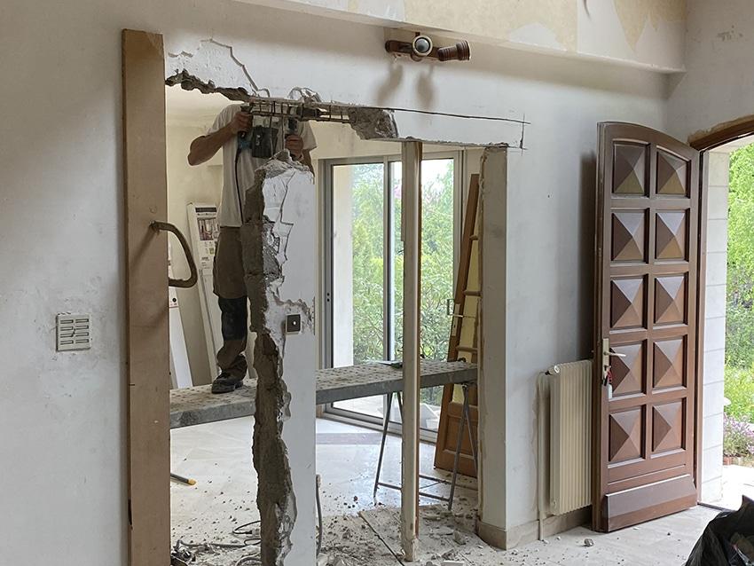 Chantier de rénovation maison Poitiers